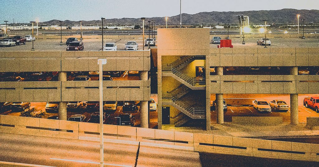 Phoenix Airport Parking Ramp by Tony Webster.