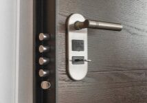 Opening an office door. Commercial lockout services available.